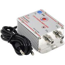 Amplificador Señal Antena TV Digital Terrestre vía Cable 2 Salidas + 20dB