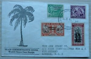 """Western Samoa 1946 """"Peace"""" First Day Cover, fine"""