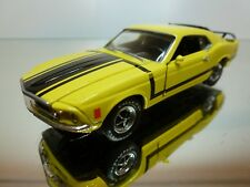 ROAD CHAMPS FORD MUSTANG 1969 - YELLOW+BLACK 1:43 - EXCELLENT CONDITION - 6