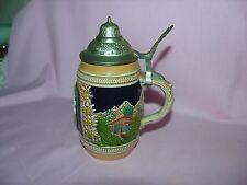 Vintage Germany Handgemalt Lidded beer Stein #29