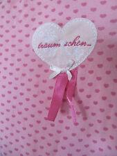 rosa BOB der BÄR Nachthemd Gr 92/ 98 langarm * Herz * Herzchen * Mädchen