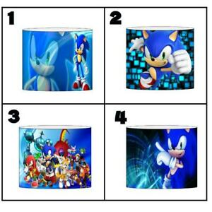 """SONIC THE HEDGEHOG Ceiling Light Shade Lampshade 8""""/20cm in 4 DESIGNS FREE POST"""