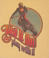 Take It Out Play With It MOTOCROSS - 1970s Iron on Heat Transfer