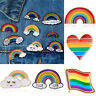 Fashion Heart Flag Oil paint Rainbow Pride Gay LGBT Les Brooch Pin Jewelry Hot