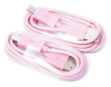 2 Lot Pink Micro USB Sync/Charger Cable Cords for Samsung Galaxy S5 S6 S7 Phones