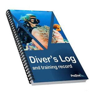 Divers Log Training Record Scuba Diving Log Book Logbook Divers PADI Standard