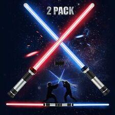 More details for 2-in-1 2pcs lightsaber light up + sound fx sword led toys for kids costumes uk