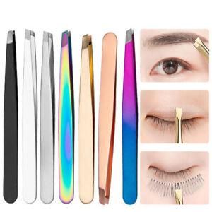 Oblique Eyebrow Clip Eyebrow Tweezer Facial Hair Remover Slanted Flat Top Tools