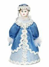 Small Russian Hand Crafted Porcelain Snow Maiden Ethnic Christmas Costume Doll