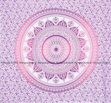 Indian ombre mandala large tapestry cotton bedspread wall hanging queen size