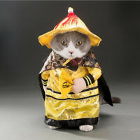 Dog Cat Puppy Pet Costume Clothes Chinese Emperor Cosplay Fancy Dress Outfit