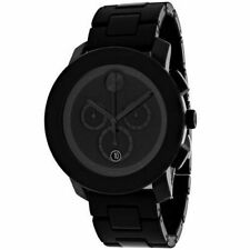 Movado Bold Large Black Unisex Chronograph Watch - 3600048