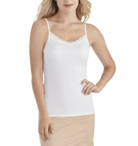 Radiant by Vanity Fair Women's Luxurious Lace Cami 3417047 White 2XL
