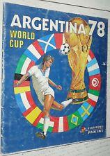 ALBUM PANINI FOOTBALL ARGENTINA 78 COUPE MONDE 1978 MUNDIAL INCOMPLET 87/400