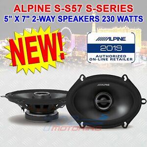 "ALPINE S-S57 CAR 5""x7"" AUDIO 230 WATTS 2-WAY SILK TWEETERS COAXIAL SPEAKERS NEW"