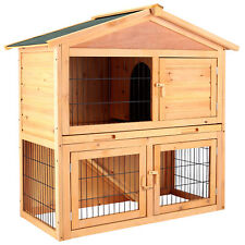 40'' Chicken Coop Waterproof Rabbit Hutch Wood Pet Run House Poultry Animal Cage