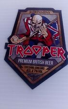 IRON MAIDEN TROOPER ROBINSONS BREWERY BEER MATS COASTERS X  2 NEW LIGHT BRIGADE