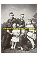 "mm522 - Greek Royalty? - King George V? & family 1883 - photo 6x4"""