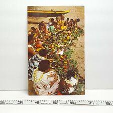 Vintage Postcard Luau Hawaii 1970s