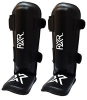 FXR SPORTS SHIN FOOT PADS MMA KICK MUAY THAI BOXING TRAINING GUARDS LEG KICKING