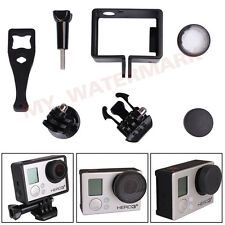 Frame Mount+UV Protective Glass Lens Cap+Tripod Adapter for GoPro HD Hero 3 3+ 4
