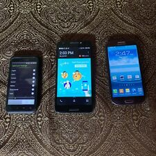 Lot of 3 Working Smartphones HTC Google, T Mobile, Samsung Galaxy S3 Sprint