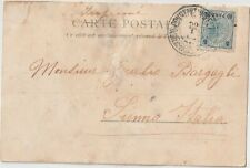 TURKEY 1903 AUSTRIAN LEVANT ON POSTCARD COVER CONSTANTINOPLE TO ITALY