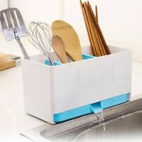 Holder Rack Basket Sponge Wash Dry Cutlery Shelf Drainer Sink Tidy Utensils