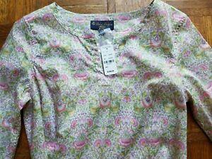 NWT - LIBERTY of LONDON Brooks Brothers Blouse Shirt Tunic Top!