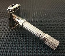 "Vintage Gillette ""Fat Boy"" Adjustable Razor Replated in Rhodium PREORDER ONLY"