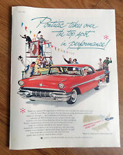 1957 Pontiac Ad Starchief Sedan Takes over the Top Spot in Performance