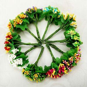 New 10/100pcs Artificial Flower Stamen For Wedding Party Bouquet Decoration D26F