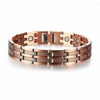 Elegant Pure Copper Magnetic Therapy Link Bracelet Pain Relief For Arthritis