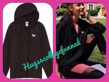 Victoria's Secret VS PINK LMTD ED BLACK Anorak Windbreaker Jacket M/L NEW!