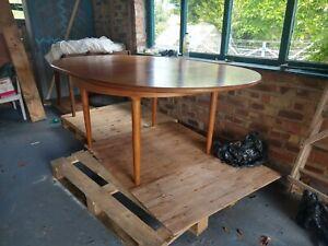 G Plan Fresco circular extendable dining table chairs teak mid century vintage