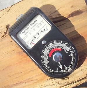 Vintage Sangamo Weston Master Universal Exposure/Light Meter S74/715 with pouch