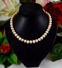 Handgefertigte Halsketten und Anhänger mit Süßwasser-Perlen aus Edelstahl