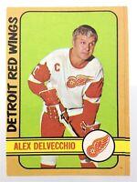 1972-73 Alex Delvecchio Detroit Red Wings 26 OPC O-Pee-Chee Hockey Card N935