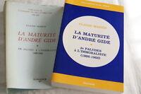 LA MATURITE D'ANDRE GIDE DE PALUDES A L'IMMORALISTE-MARTIN 1977 EO