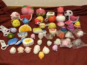 Slow Rise Squeeze Toy Mini Mochi Squishy Fidget Lot 49pcs
