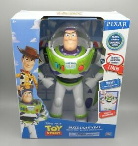 """Toy Story Talking Buzz Lightyear Doll Thinkway Deluxe Space Ranger Figure 12"""""""
