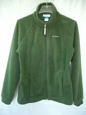 COLUMBIA Green Fleece Full-Zip Jacket, Youth sz 18-20, OK for Juniors or Women