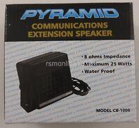 Pyramid CB-1000 President 25 Watt Communication External Speaker w/ 3.5mm Plug