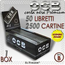 2500 OCB Cartine corte nere Premium.1 Box da 50 libretti Black