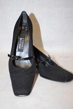 STUART WEITZMAN BLACK Mary Jane Heels Patent Leather Straps Square Toe Sz 6M-B7