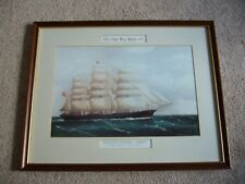 """Cutty Sark """"1869"""" from a Painting by F. Tudgay - Framed Print"""