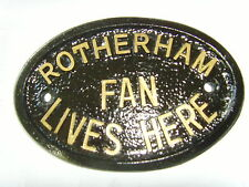 ROTHERHAM UTD FOOTBALL HOUSE PLAQUE THE MILLERS SIGN