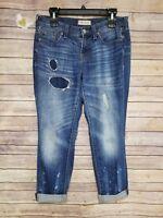 Madewell Women Blue Distressed Boyfriend Boyjean Jeans Size 26