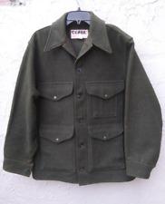 Filson Mens XL Mackinaw Cruiser 100% Virgin Wool Coat #110 Size 44 Forest Green