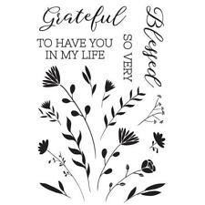 FULL BLOOM Collection Clear Unmounted Rubber Stamp Set Kaisercraft CS329 New